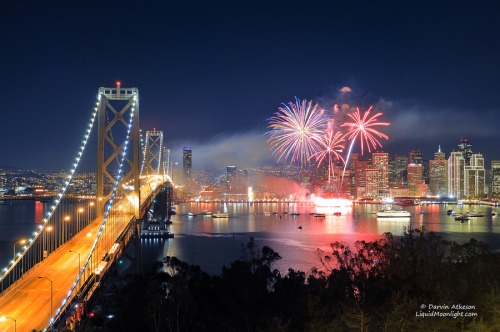San Francisco New Years Fireworks - Happy New Year 2012 Photography by Darvin Atkeson. More photography inspiration. posted byW.A.T.C. // Facebook // Twitter // Google+