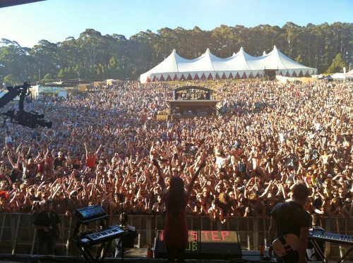 Last show of the year at Falls Festival in Lorne, Australia. Happy New Year!