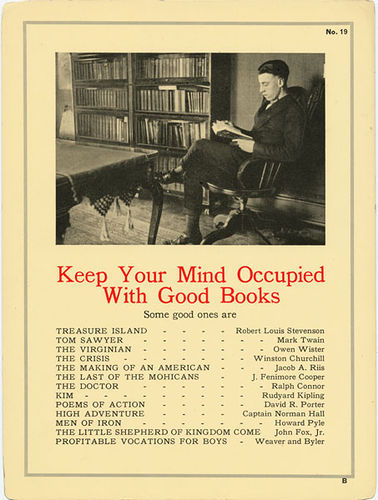 jyhslibrary:  keep your mind occupied with good books by library_mistress on Flickr. Keep your mind occupied with good books