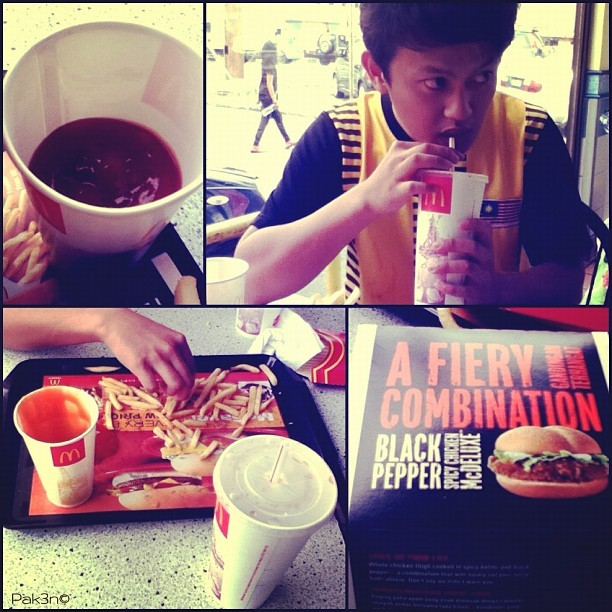 Lunch with cousin, LP | #mcd #gadong #outing #cousin #lovefoodhatewaste #mokties  (Taken with instagram)