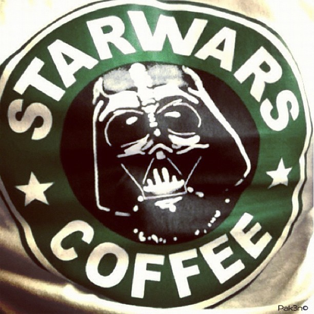 Starwars Coffee | #starwars #starwarsporn #swasia #swb #brutroops #brunika #brunei #darthvader #starbucks (Taken with instagram)