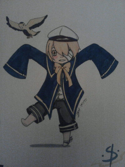 Another.. OLIVER!!! Chibi style.. and… this was taken with my camera phone… my scanner broke down.. *sigh* submission by dacy02