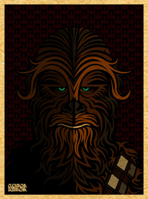 jecoart:  xombiedirge: Chewie - Portrait Of A Rebel by Cucaracha Borracha