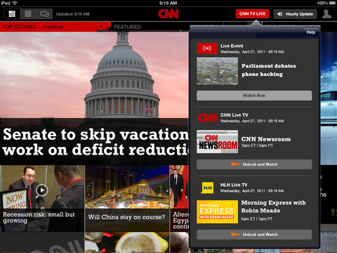 [PAGE 194] CNN iPad app (PHOTO)