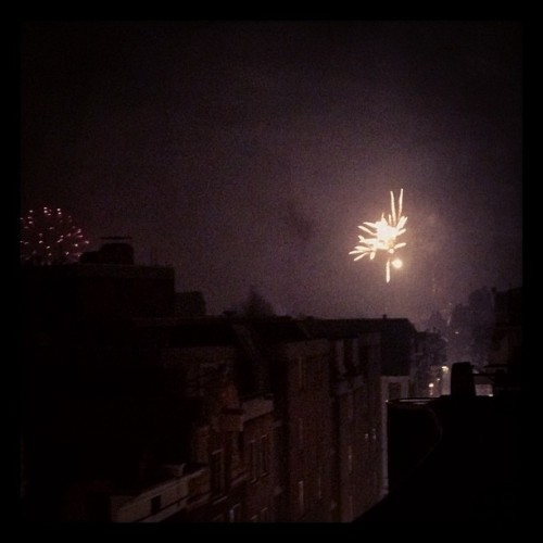 Fireworks in Amsterdam (Taken with instagram)