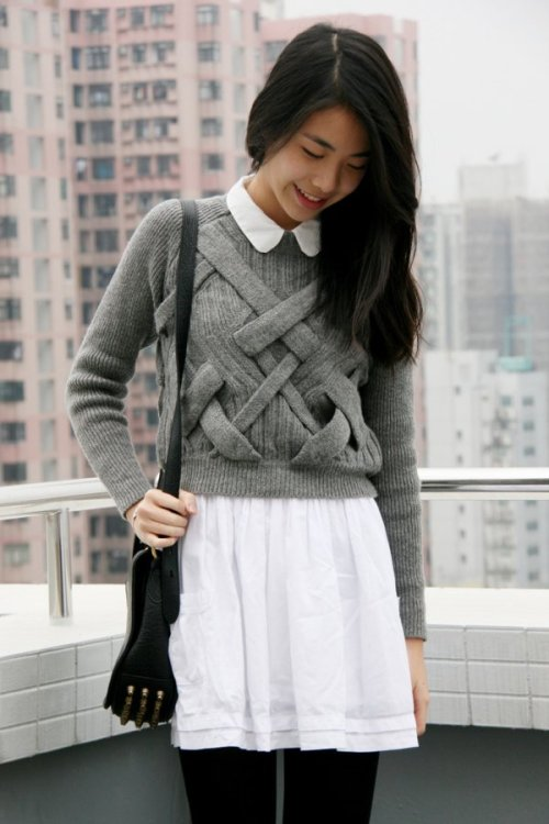college-fashionista:  Neat Knits