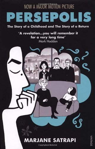 "Persepolis  Marjane Satrapi  Wise, often funny, sometimes heartbreaking, ""Persepolis: The Story of a Childhood"" tells the story of Marjane Satrapi's life in Tehran from the ages of six to fourteen, years that saw the overthrow of the Shah's regime, the triumph of the Islamic Revolution and the devastating effects of war with Iraq. The intelligent and outspoken child of radical Marxists, and the great-grandaughter of Iran's last emperor, Satrapi bears witness to a childhood uniquely entwined with the history of her country. Persepolis paints an unforgettable portrait of daily life in Iran and of the bewildering contradictions between home life and public life. Amidst the tragedy, Marjane's child's eye view adds immediacy and humour, and her story of a childhood at once outrageous and ordinary, beset by the unthinkable and yet buffered by an extraordinary and loving family, is immensely moving. It is also very beautiful; Satrapi's drawings have the power of the very best woodcuts."