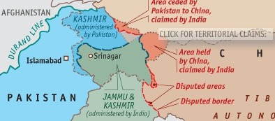 Fantasy FrontiersExcellent interactive mapping of claims by India, Pakistan & China  Most contentious of all, however, are the borders in Kashmir, where Pakistan, India and China all have competing claims. By the time of independence, in 1947, it was clear that many Indian Muslims were determined to break off from Hindu-majority India. It fell to a British civil servant, who knew nothing of the region, to draw a line… >continue<