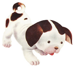 anyone else remember The Poky Little Puppy? I do.  He was, is, and always will be adorable.  His lips look like velvet. I want to touch them.  I want to kiss his pink nose parts.
