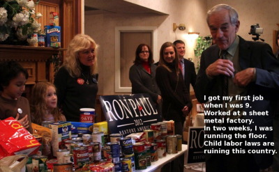 Our Ron Paul Food Drive photo is famous!