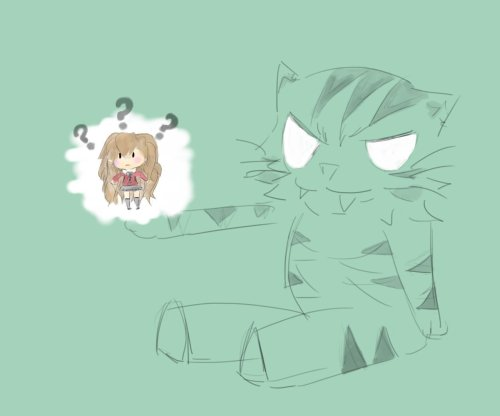 My perception on the reverse. Palmtop tiger holding Taiga.