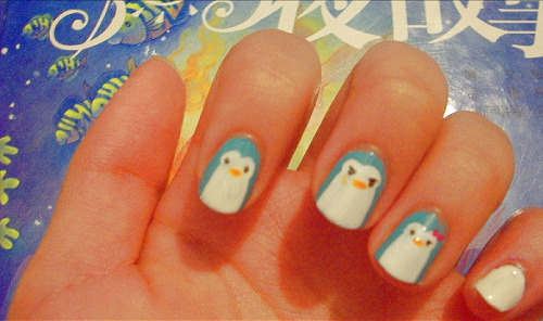 mawaru penguindrum nails! i feel so fabulous max