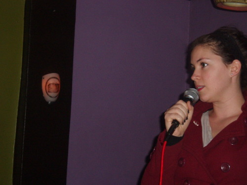 oaklandlayovercomedy:  December 13:  Mimi Vilmenay  by Mike Spiegelman