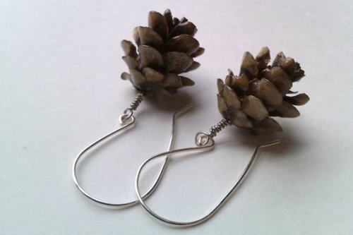 forestlings:  Resin pinecone earrings  These are gorgeous!