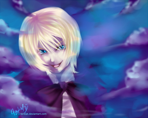 Random speed paint of Alois Trancy from Kuroshitsuji. Dunno why I picked him when I wanted to experiment today. I want to Livestream, but I couldn't figure out how to limit my casting space…I don't want my entire destop window broadcasted through Livestream Procaster. 8D Ah~And happy new year, lol.