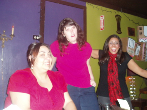 oaklandlayovercomedy:  December 13:  Lydia Popovich, Melanie O'Brien, Shanti Charan  [Lydia and Melanie hate this picture. More information soon.]