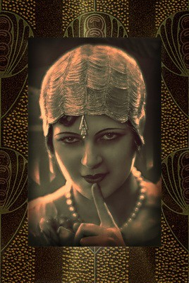 My Bohemian History  Fabulously adorned flapper found on Pinterest
