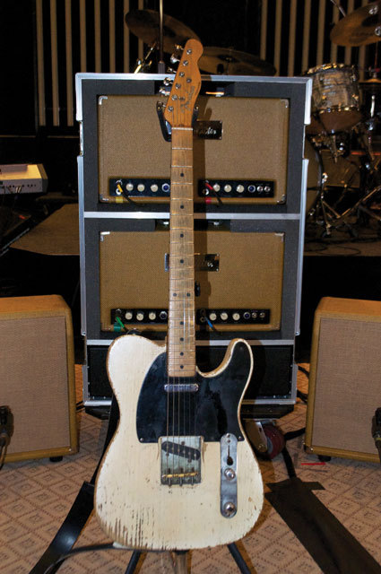 Vince Gill's 1953 Telecaster Yep, he takes it on the road. This 1953 Fender Telecaster is Vince's No. 1 guitar. He picked up the guitar at Del City Music in Del City, Oklahoma, nearly 30 years ago. According to Gill's tech, Benny Garcia, everything is totally original except for a Seymour Duncan pickup in the neck position. See all of his touring gear in our gallery.