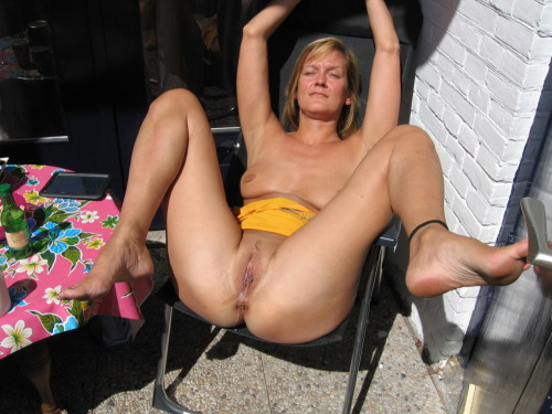 milkthatcock:  I love how comfortable she looks with her legs obscenely spread and a thick stream of potent cum trickling from her cunt.