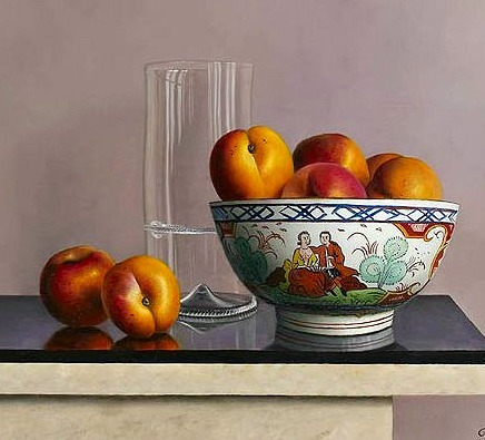Johan de Fre Apricots in Reflection 21st century