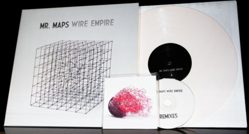 Here it is. Wire Empire on white vinyl and an accompanying CD of remixes. The first batch have already been shipped to our pozible supporters, so if you are one of the many wonderful friends who pledged to help make this happen, your goodies are on the way. Thank you!For everyone else, the rest of the super limited run is available to order via the Mr. Maps Bandcamp page. Don't miss out!In other news, in the obligatory flourish of end of year lists and rankings, Wire Empire has wound up at #40 on the Mess and Noise critics' poll, Tennis Party has ranked #24 on 4zzz's hot 100 tracks of the year, and various other Mr. Maps bits are scattered through the various staff lists of Rave & Time Off Magazine. So a big thank you is owed to those journos and critics who've had our back over the years!Regardless of your belief of the importance of December 25th, we hope you had a mighty fine day, and may this mark the beginning of an exceptionally good year.