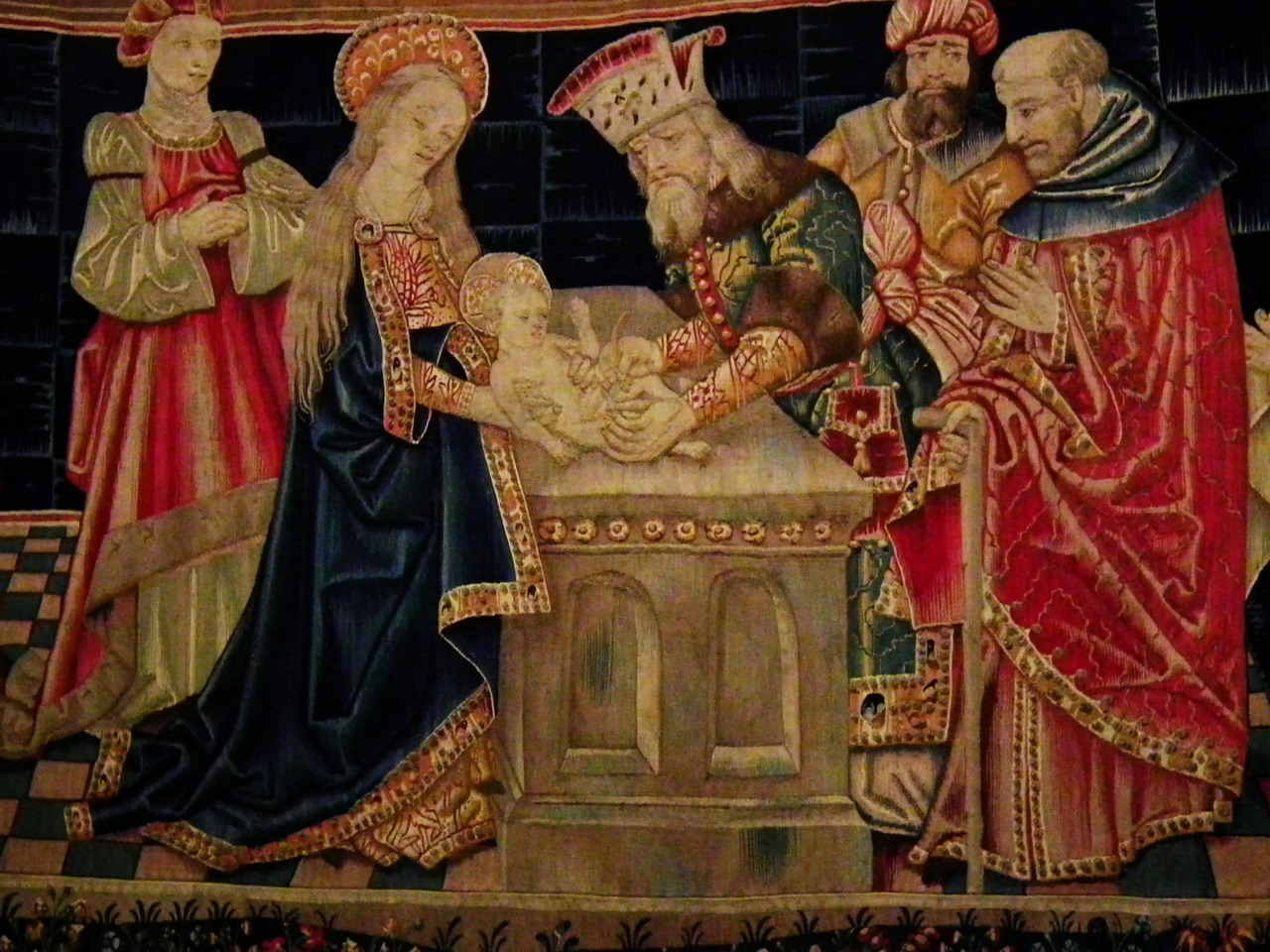 The Feast of the Circumcision of Christ- January 1st, Tridentine calendar   is a Christian celebration of the circumcision of Jesus in accordance with Jewish tradition, eight days (according to the Semitic and southern European calculation of intervals of days) after his birth, the occasion on which the child was formally given his name. The circumcision of Jesus has traditionally been seen as the first time the blood of Christ was shed, and thus the beginning of the process of the redemption of man, and a demonstration that Christ was fully human, and of his obedience to Biblical law. Celebrated in the Eastern Orthodox and Catholic Churches.