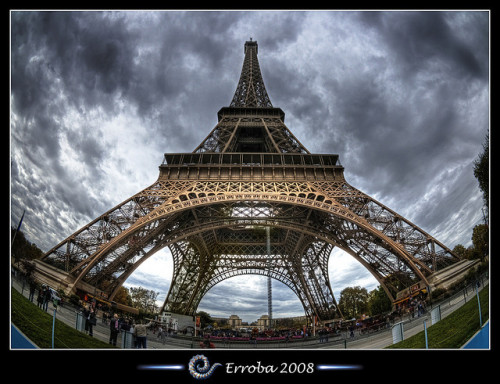 Eiffel tower, Paris, France :: Fisheye :: HDR by Erroba on Flickr.