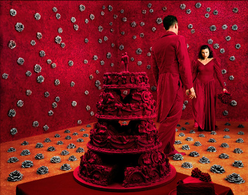 The Wedding, Sandy Skoglund, 1994 Orange marmalade on the floor, strawberry jam on the walls, handmade ceramic roses everywhere. I consider Sandy Skoglund to be the contemporary photographer who set the bar for artistic photography. I haven't seen a photographer reach her level yet.