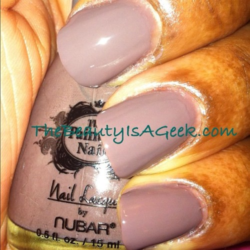On Taupe Of The World @bynubar for @thepaintednail. 3 coats. #nails #swatches (Taken with instagram)
