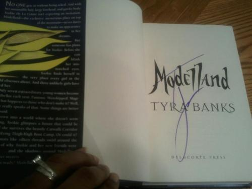 Modelland by Tyra Banks I remember when Tyra finished writing Modelland.   Her smile beamed from ear to ear when she was done.  If there was a photo of 'fulfilled joy,' it's likely that picture would accompany the definition. I'm sure I mirrored her smile a few times last year: When I quit my job to focus on TheQueensCastle.net full-time When I successfully moved the website from Tumblr to WordPress When I completed my MBA in October When I interviewed people whose work I've admired for years, Dorinda Clark-Cole, Lalah Hathaway, Golden Brooks and Bill Duke to name a few… and when the autographed copy of Modelland arrived at my home. Because of the respect I have for Tyra's hustle, for me it served as another confirmation that ALL of the awesome life experiences I was honored to have and worked for in 2011, are filled with even more promise in 2012. I'm in expecation of great things during the coming year! I hope you are too…
