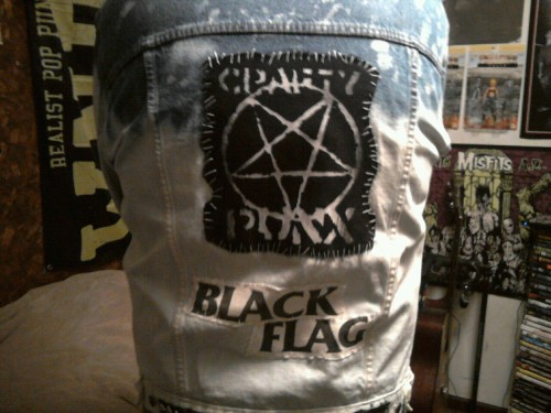 Finally getting some work done on my CraftyPunx jacket.