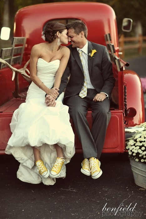 always wanted to have everyone in my wedding party wear these shoes just prob not yellow lol