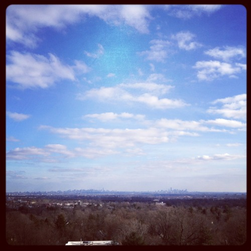 View of NYC from Montclair, New Jersey