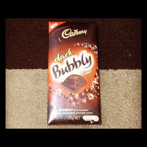 Cadbury Dark Bubbly Chocolate bar. Light and luscious bubbles inside. #foodstagram #foodgasm #iphonesia #iphoneasia #iphoneography #igers #igersmanila #cadbury #perth #australia #chocolate #dark #bubbly (Taken with instagram)