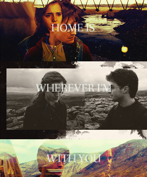 snapeysnapee:  home is wherever I'm with you