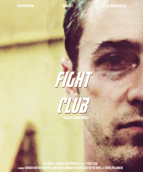 laurmarling:  Poster Remake Meme - Fight Club (1999) - asked by aliakbar01
