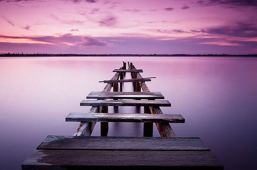 pisceo:  Sunset Pier (by Ѕam)