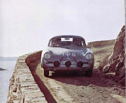 Porsche 356 at the 1960 Tour de Corse