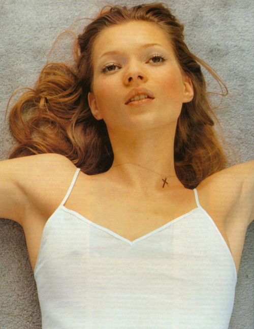 """Under Exposure"": Kate Moss photographed by Corinne Day for Vogue UK, June 1993"