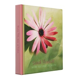Lomo Grunge Daisy Flower Album Binder by webgrrl