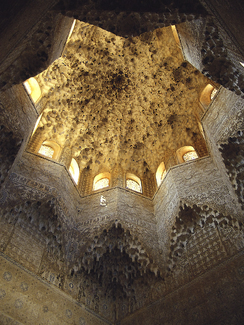 Mocárabe/honeycomb vaulting at the Alhambra's Sala de los Abencerrajes