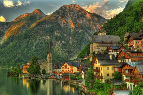 Lake Village, Hallstatt, Austria  photo by chrishuang