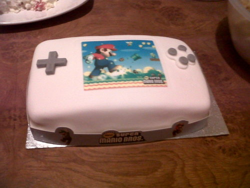 "At first i thought that was a DS case but then I saw ""#cake"" in the tags! Amazing!….and yummy. =D"