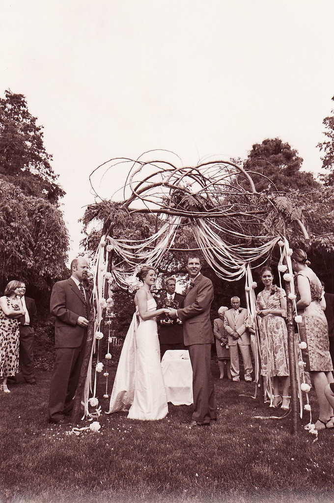 Rustic Cedar Wedding Arbor or Chuppah