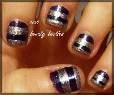 Simple striped #nailart #nails #manicure #tutorial