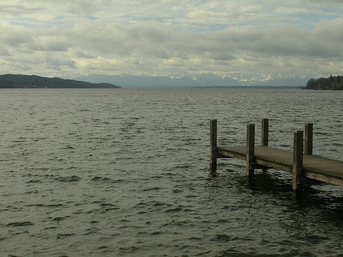 Starnberger See, Munich, Germany.   Bavarian King Ludwig II drowned under mysterious circumstances in the Starnberger See only three days after being declared legally insane.