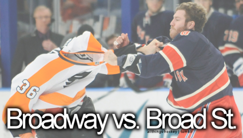 allthings-hockey:  Broadway vs. Broad St.