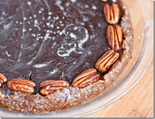 pleasedonttouchthat:  Raw/Vegan Salted Caramel Chocolate Pecan Torte Not really happy with the photos, but one of my favorite recipes ever. I'll have to make it again just to take better pictures.