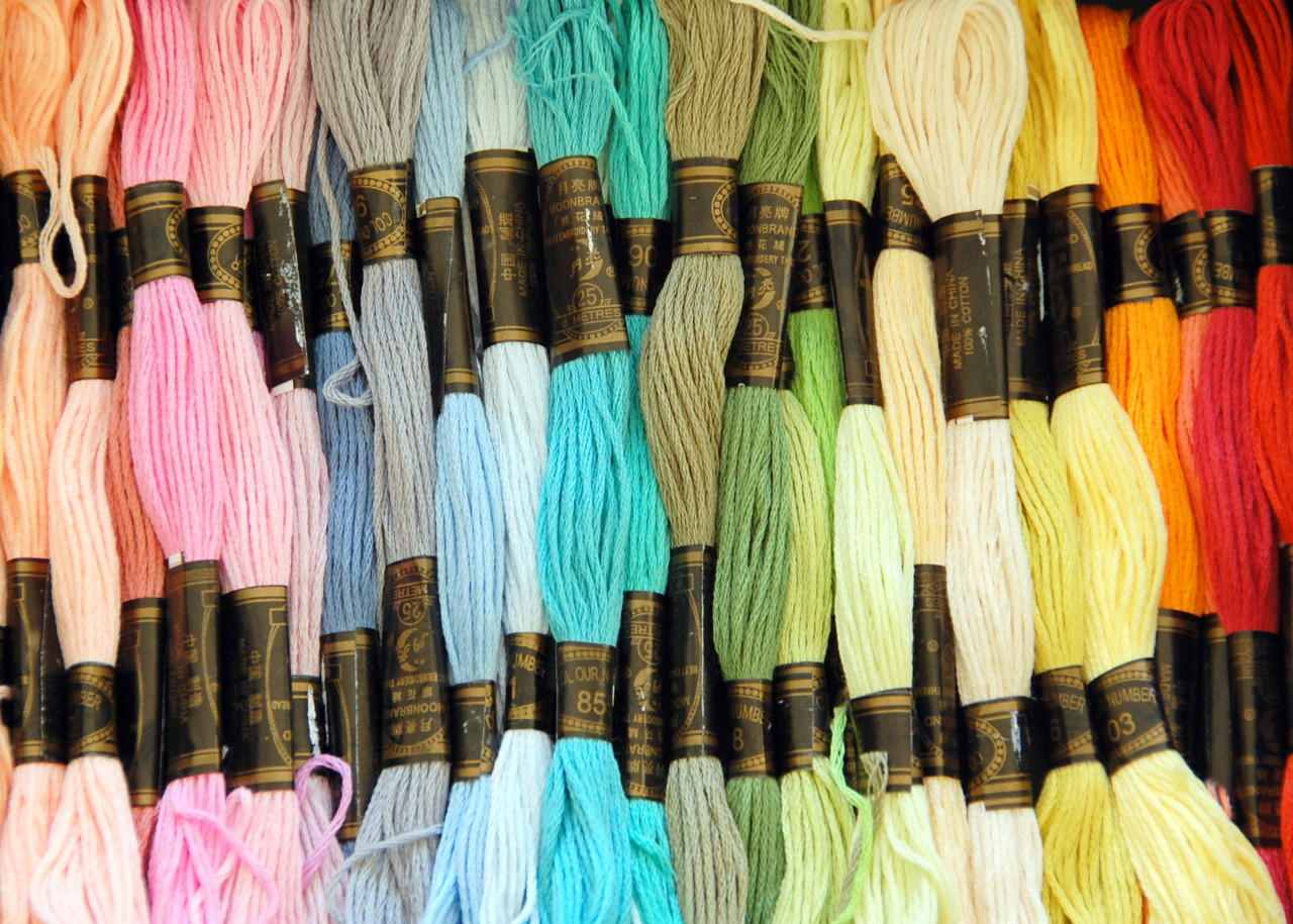 just purchased a gorgeous selection of embroidery thread from morley's, our little department store in tootingshire!  they have a surprisingly good haberdashery department and i frequently pop in to get little bits and bobs.  especially handy being so close as i inevitably run out of something crucial when i am in the middle of a project.