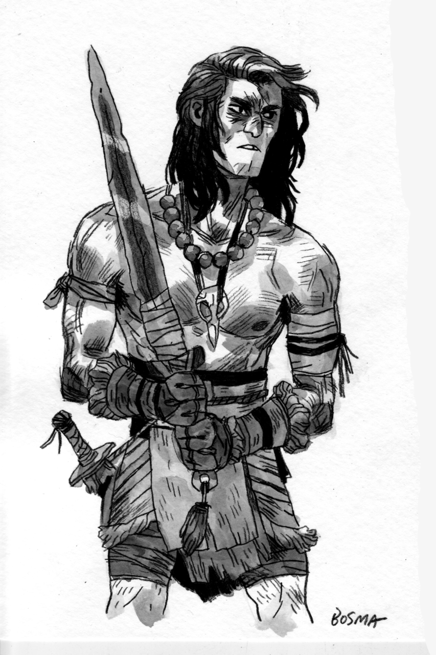 sbosma:  I draw Conan a lot.